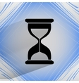 Sand clock Glass timer Flat modern web button vector image vector image
