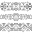 seamless ethnic borders vector image vector image