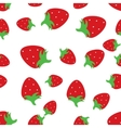 Seamless pattern background with red strawberries vector image vector image