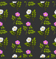 seamless pattern with cherokee rose and wild vector image
