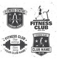 set of fitness club badges concept for vector image
