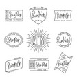 set of summer labels design linear style vector image vector image
