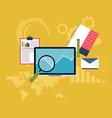 Set of web analytics information and development vector image