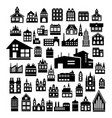 set silhouettes architecture vector image