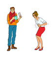 sick characters set of people with health problems vector image