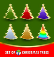 simple christmas trees vector image vector image