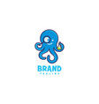 squid lab logo vector image vector image