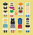 summer time beach fashion clothes looks design vector image vector image