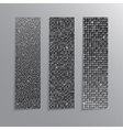 Vertical set Silver sequins banners Glitter vector image vector image