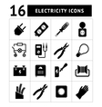 Set icons of electricity vector image