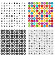 100 officer icons set variant vector image