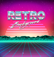 80s Retro Futurism Sci-Fi Background vector image vector image