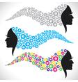 abstract beauty fashion girl hair vector image