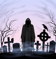 Angel of death in the cemetery vector image vector image