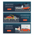 automobile service isolated on city background vector image