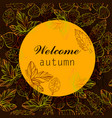 autumn color stylize template with vector image