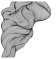 Background with wave line curls