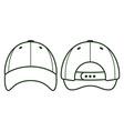 Baseball blank cap vector image vector image