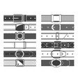 belts with buckles vector image vector image