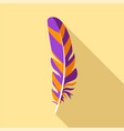 bird feather icon flat style vector image vector image