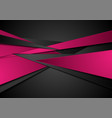 black and pink abstract corporate background vector image vector image