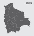 bolivia regions map vector image vector image