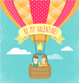 Boy and girl in love in a hot air balloon vector image vector image
