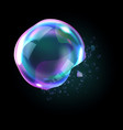 bursting soap bubbles process stage vector image