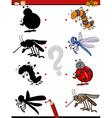 cartoon educational shadows task vector image vector image