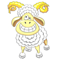 cartoon funny happy ram vector image