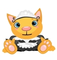 Cartoon pet in the uniform of governess vector image vector image