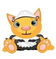 cartoon pet in uniform governess vector image vector image