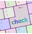 check button on computer pc keyboard key vector image vector image