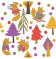 christmas fox vector image vector image