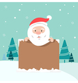 Christmas of Santa holding board vector image