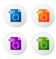color gif file document download gif button icon vector image vector image