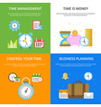 concept at time management theme vector image vector image
