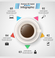 cup coffe tea drink - business infographic vector image