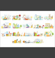 different sciences related objects composition vector image vector image