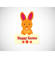 Easter bunny - cartoon vector image vector image