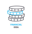 financial idea concept outline icon linear sign vector image