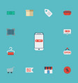 flat icons buy now shop cash and other vector image vector image