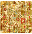 Floral wallpaper on striped background vector | Price: 1 Credit (USD $1)