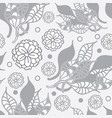flowers and leaves-flowers in bloom seamless vector image