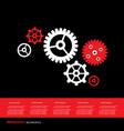 gear cog wheel info graphic symbol vector image vector image