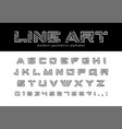 geometric line art font technology futuristic vector image