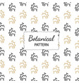 hand drawn botanical pattern background vector image