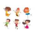 Happy children in different positions set vector image vector image