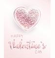 happy valentines day romantic design card vector image vector image