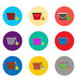 icon logo for set symbols bucket and vector image vector image